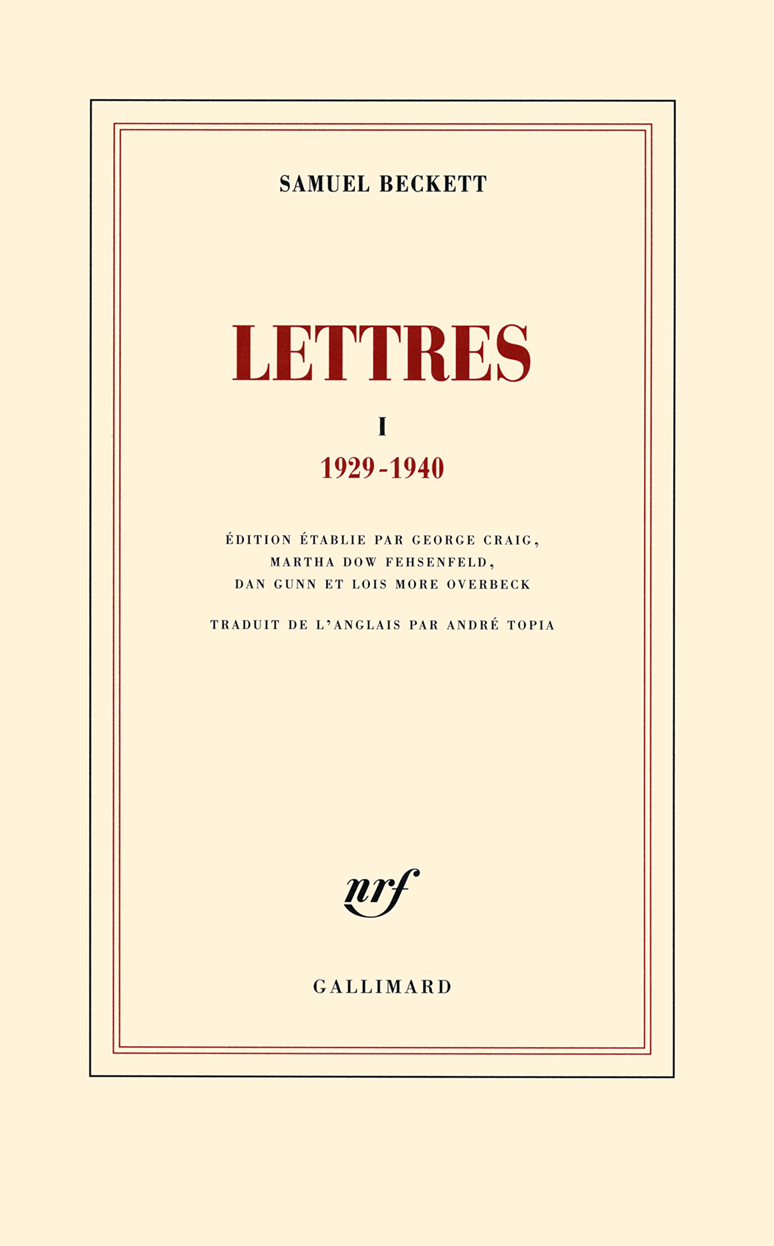 Lettres: (1929-1940)