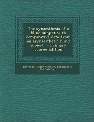 The synaesthesia of a blind subject with comparati...